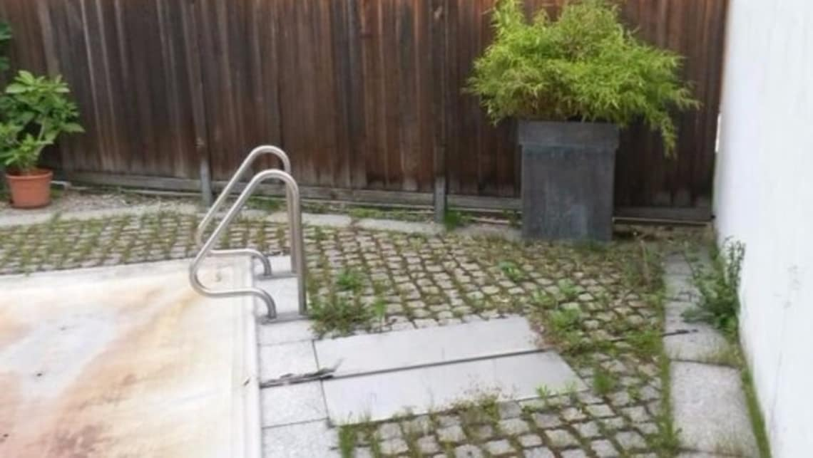 Gartenumgestaltung Vorher Pool