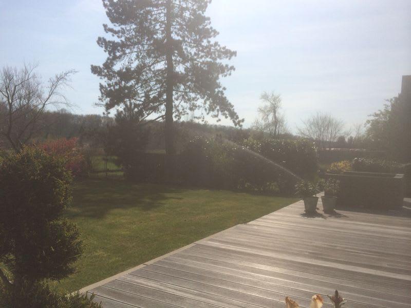 Beregnung im Garten von der Terrasse