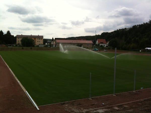Bewässerung Fußballplatz