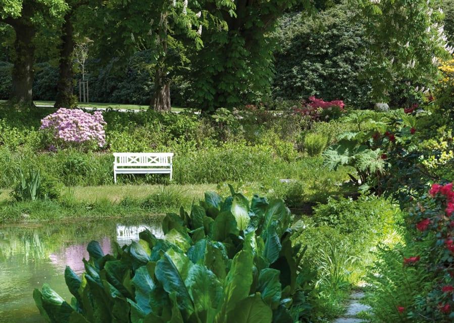 Optirain schöner grüner Garten