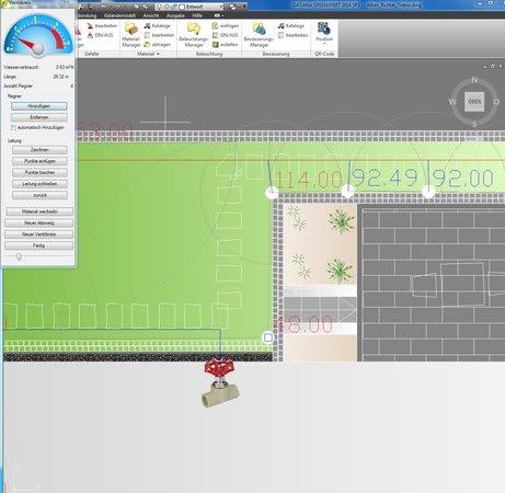 Planung Optrain Beregnungsanlage Screenshot
