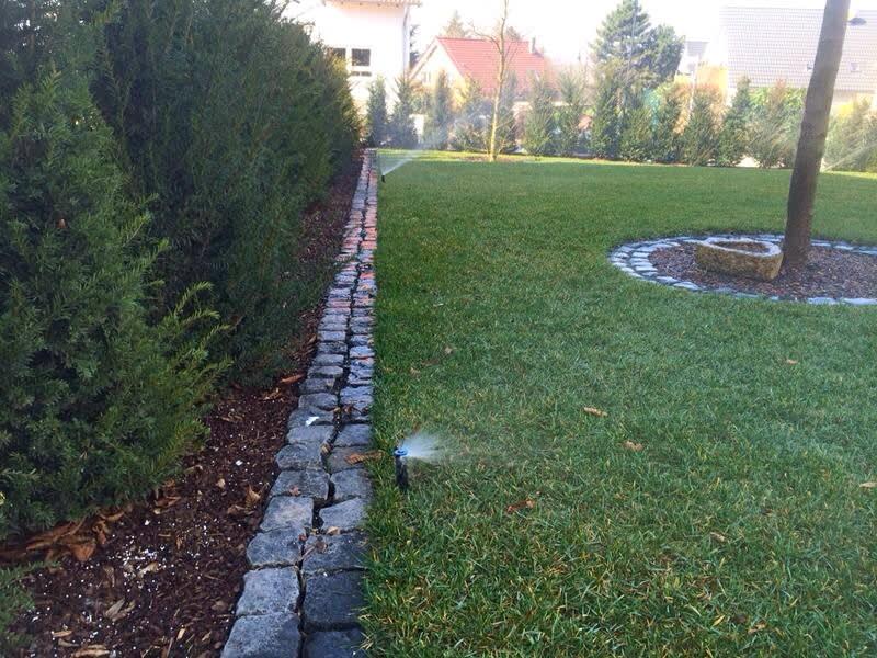 Rasenbewässerung Garten schön angelegt
