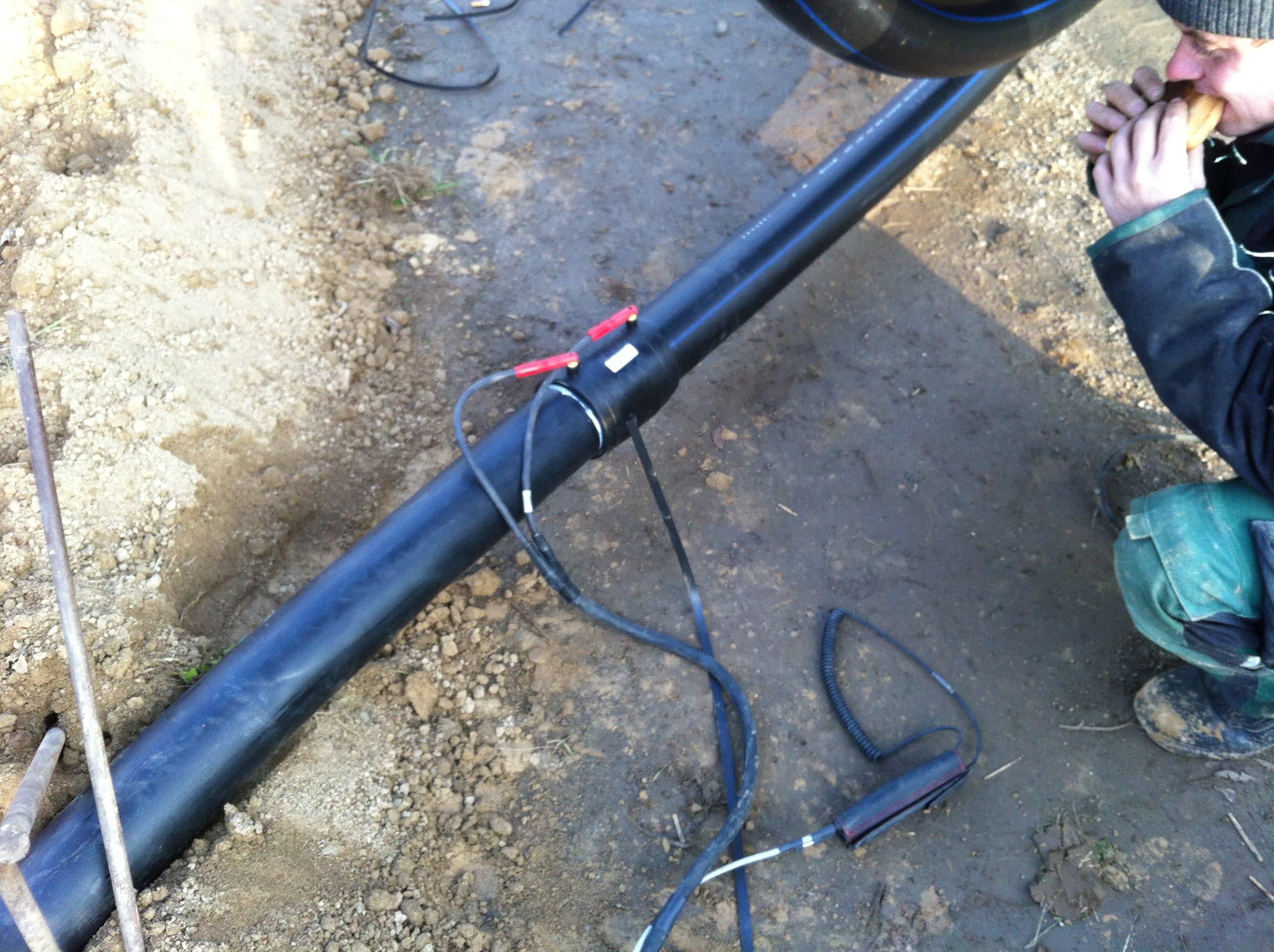 Rohrverbindung mit Wendelschweißverfahren