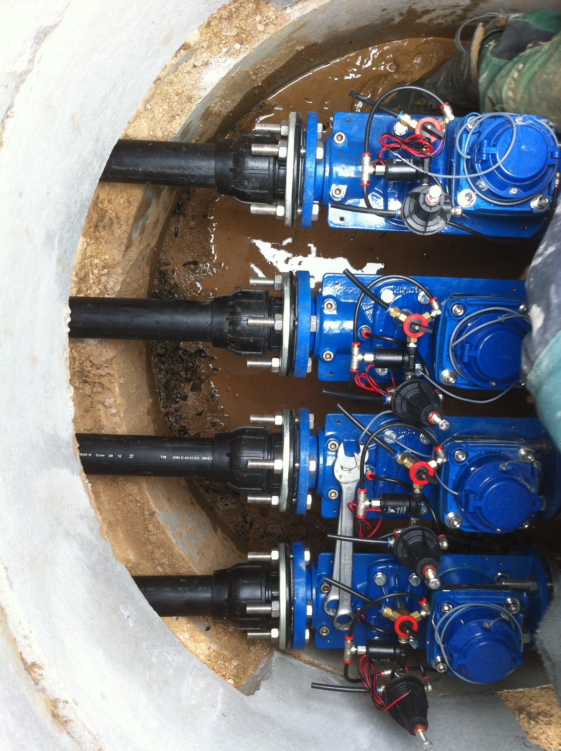 Ventilverteilung Bewässerungsanlage