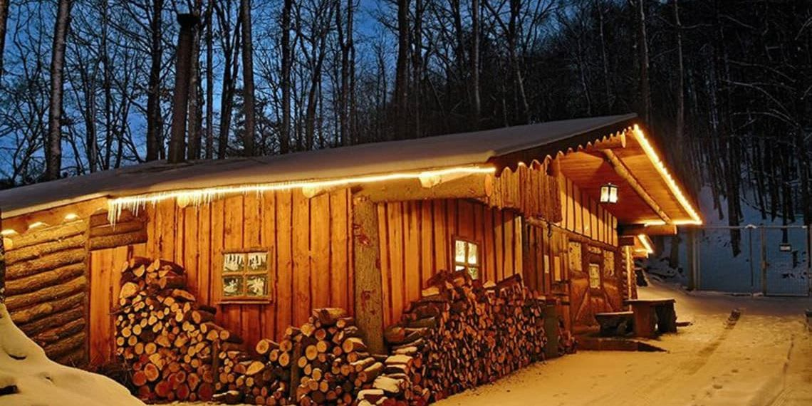 Hütte im Schnee Location