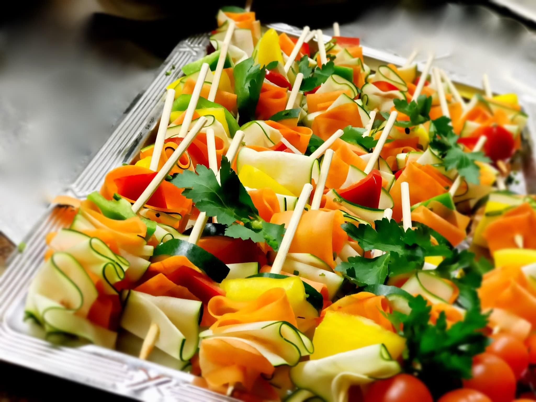 Catering Gemüse Spießchen