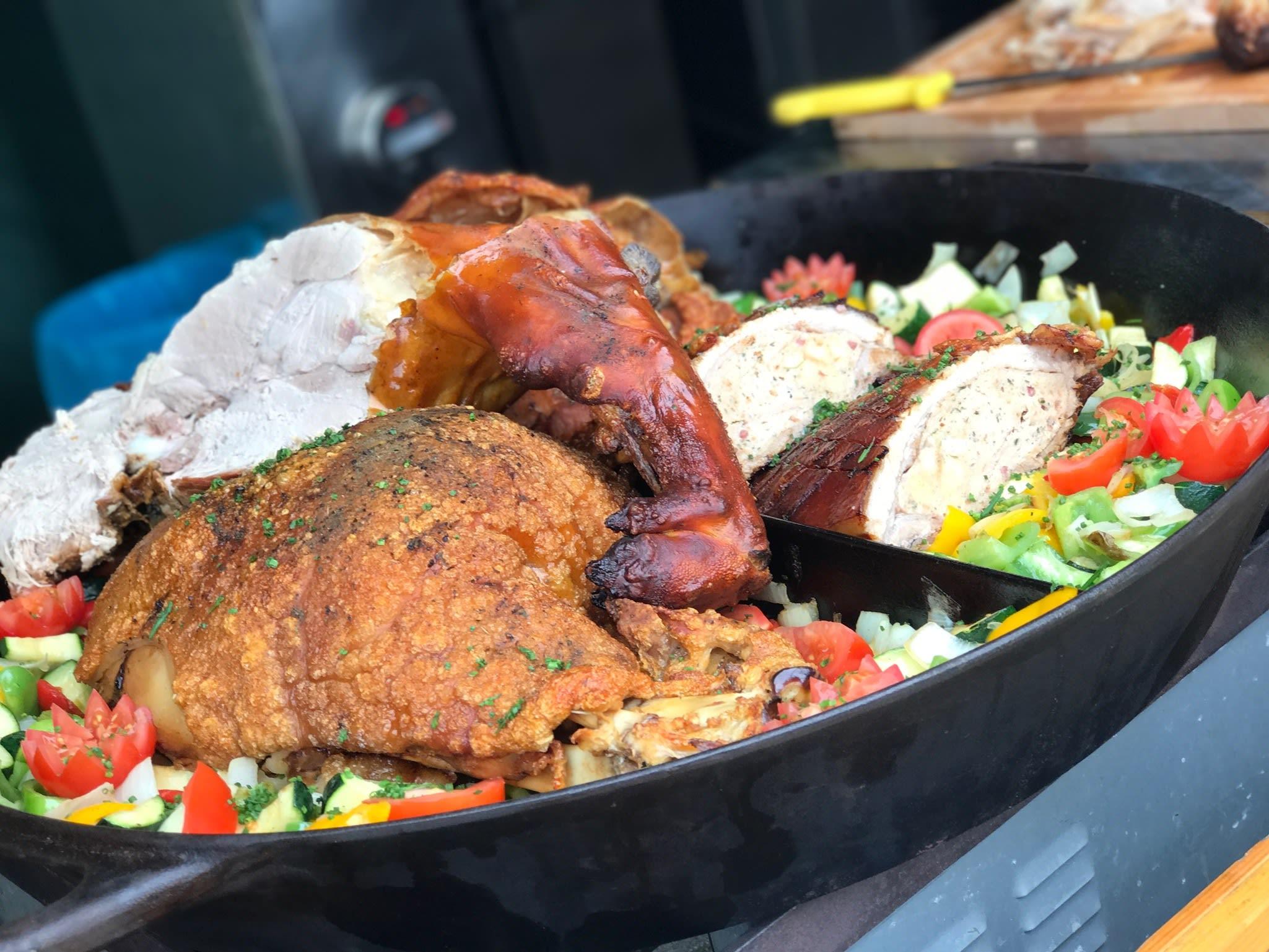 Catering Fleisch aufgeschnitten Braten