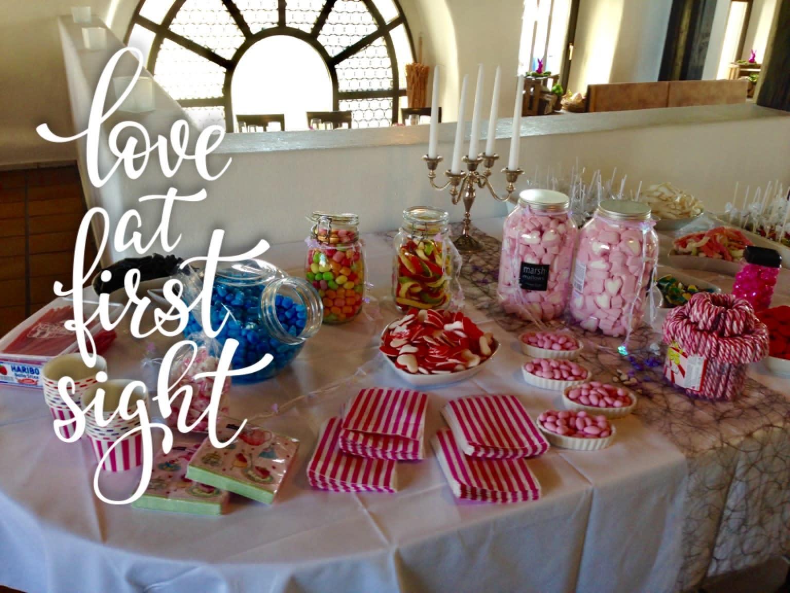 Süßigkeiten Tisch Dekoration Catering
