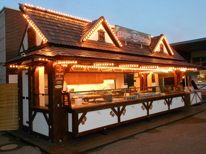 Schmäding bei Nacht Essenhütte Verkauf Holz