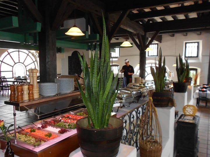 Blick auf Salat-Buffet im Alte Kelter