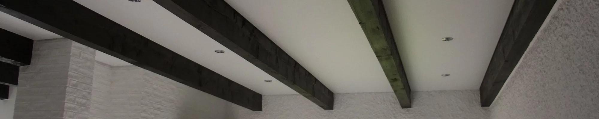 Spanndeckencenter Niedersachsen Spanndecke Holzbalken