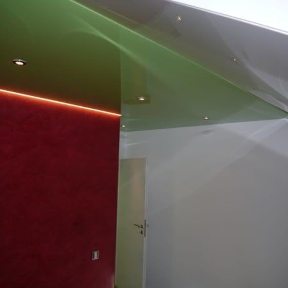 Spanndecke grün Ecke