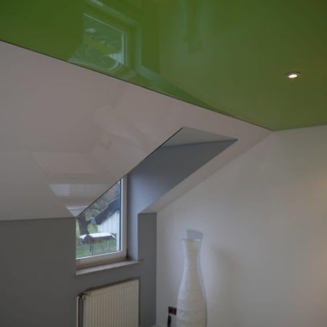 Spanndecke grün 1 Fenster