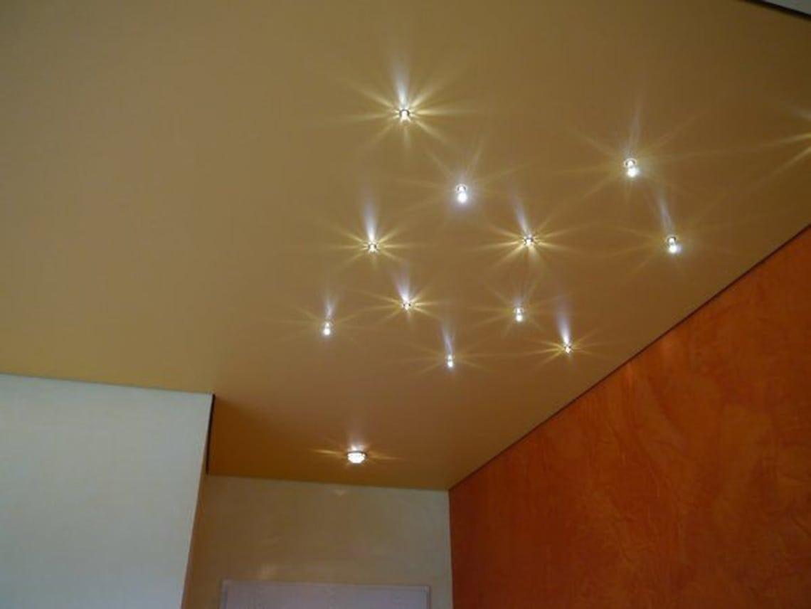 Spanndecke mit Beleuchtung