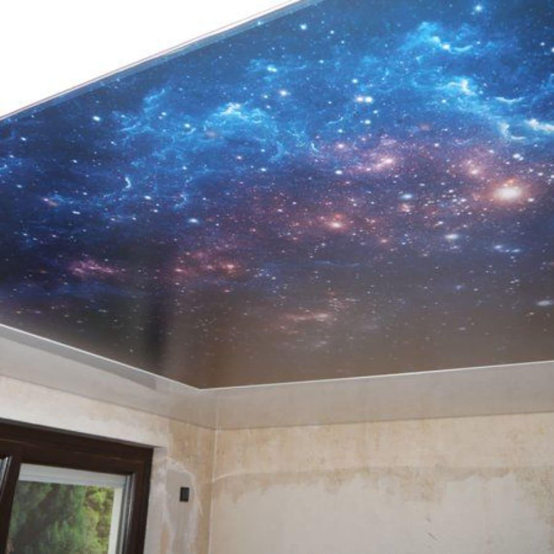 Bedruckte Lichtdecke Sternenhimmel
