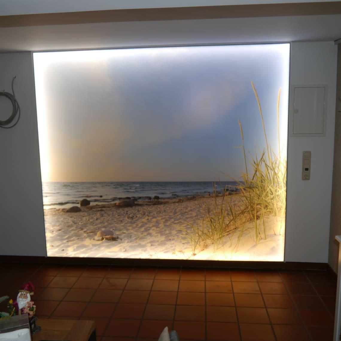 Fotodruck mit hinterbeleuchteten LED Technik