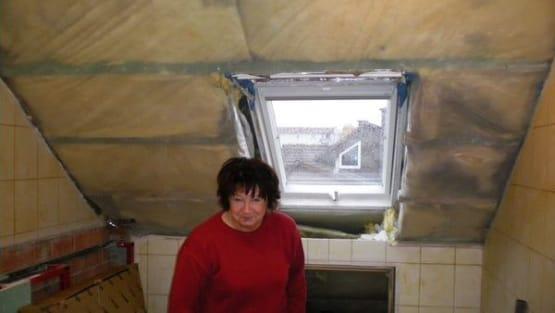 Badezimmers mit Dachschräge Sanierung