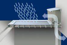 Belüftungselement mit vorgeschriebenem Strömungsquerschnitt Insektenschutz