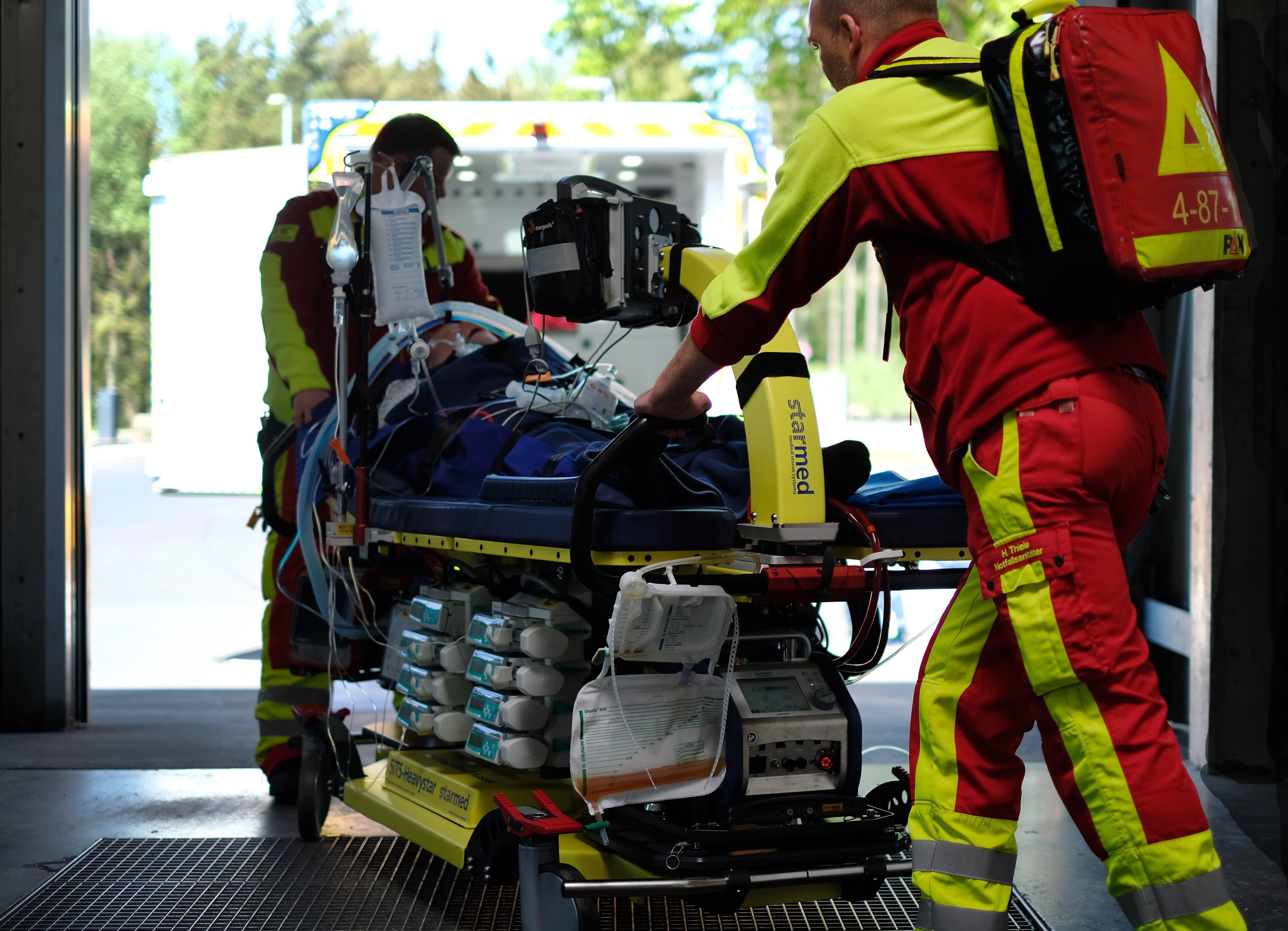 Intensivtransport des DRK-Rettungsdienstes Kassel