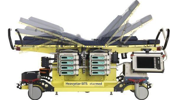 KnopfdruckTransport verschiedene Liegeeinstellung