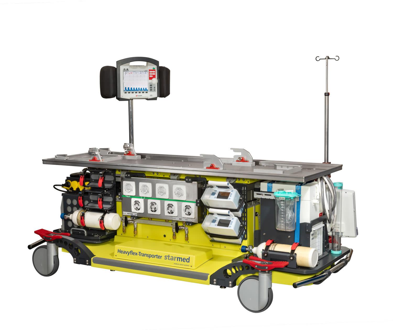 Heavyflex Transport mit vielen Geräten