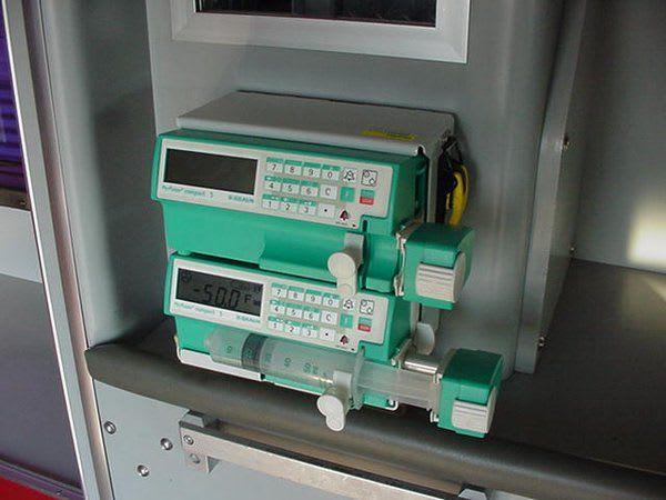 Gerätehalterung für Braun Compact Spritzenpumpen