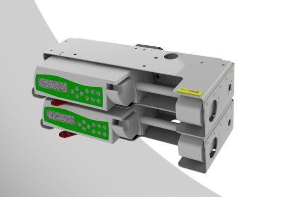 Gerätehalterung für Braun Space Spritzenpumpen grau grün
