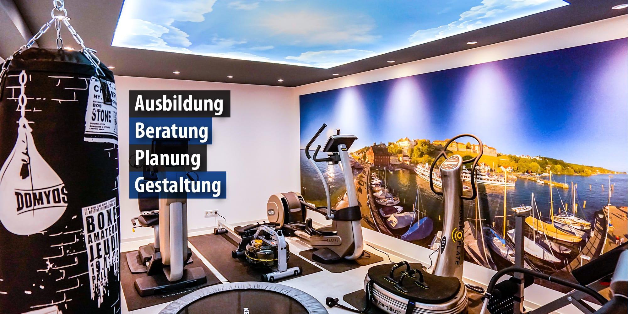 Lichtdecke im Fitnessstudio