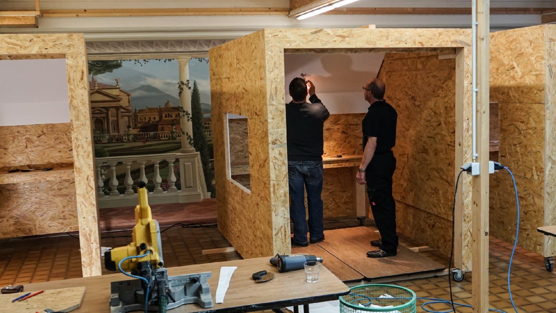 In den Übungskabinen können zwei Teilnehmer gleichzeitig am Objekt arbeiten.