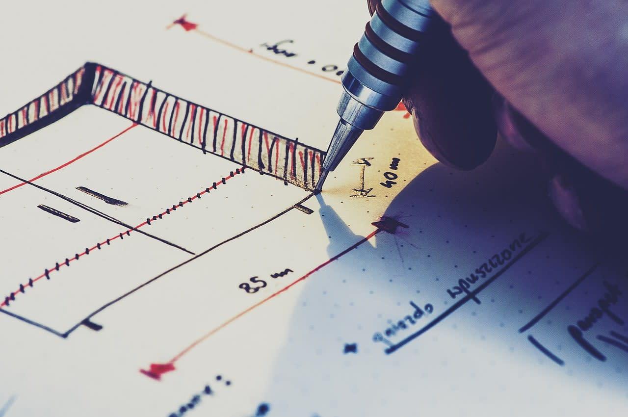 Darling Planung zweiter Schritt Konzeption der Unterkonstruktionen