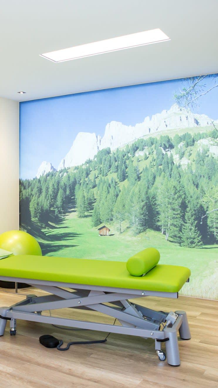 Grüne Liege Behandlung Bedruckte Wand Natur