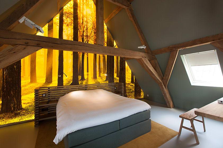 Hotel Zimmer Monavisa Schlafbereich