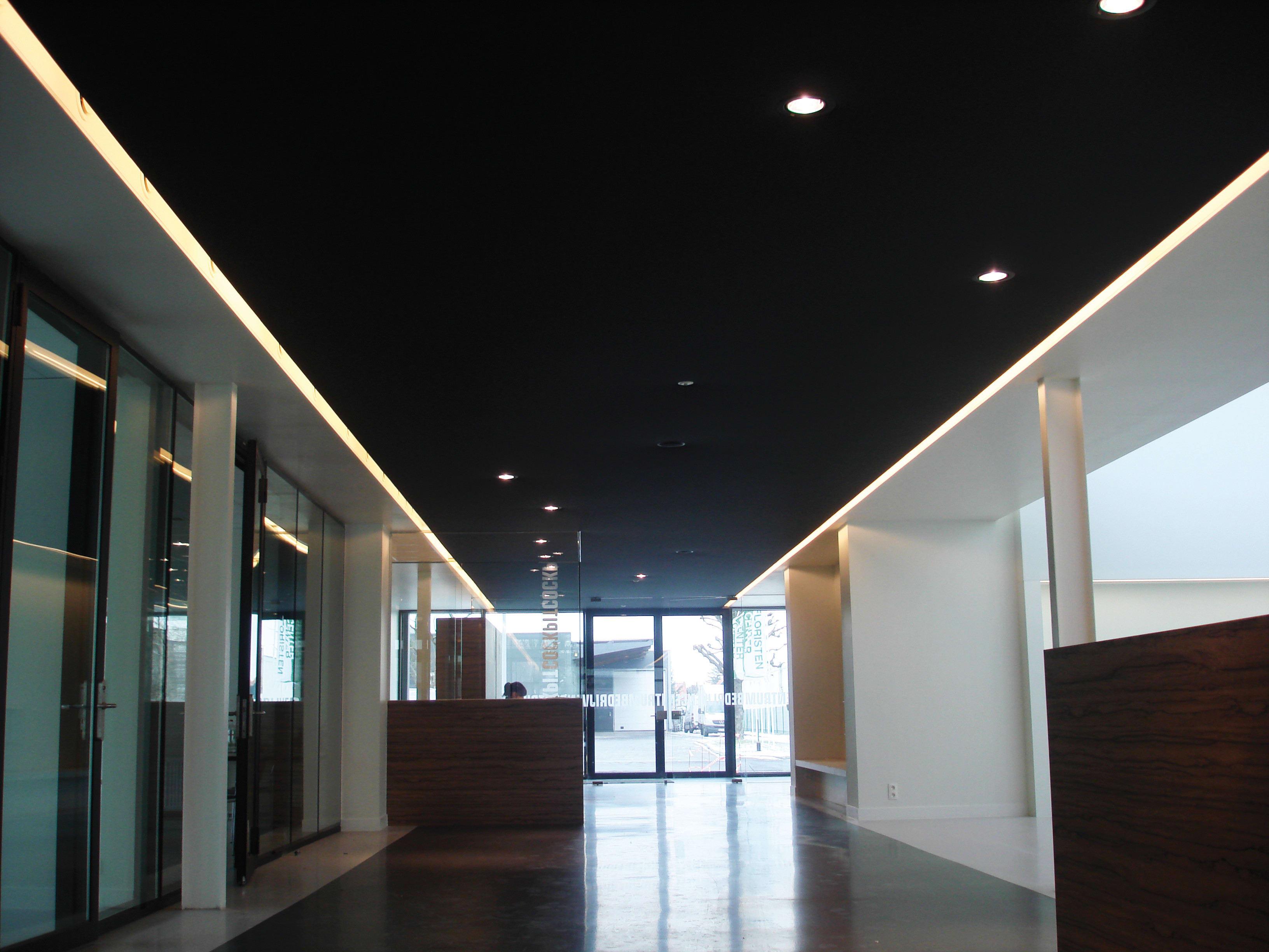 Zentrum Eingangsbereich mit Akustikverkleidung von Clipso