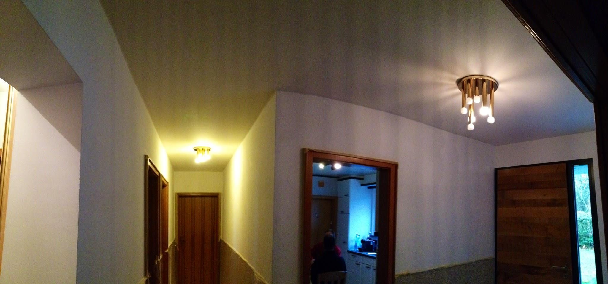 Privater Flur Eingangsbereich mit Lampe