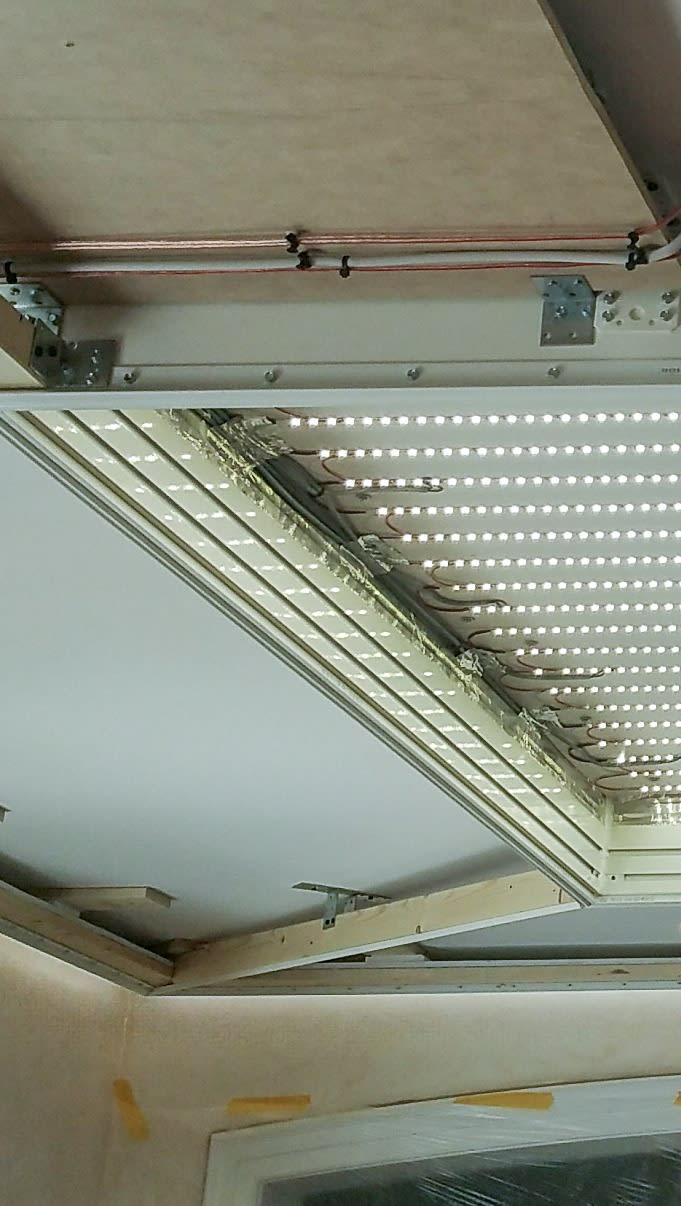 Unterkonstruktion Lichtkasten offen