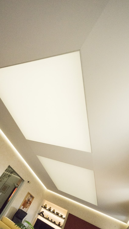 Deckendiamant Beleuchtungskonzept Wohnzimmer