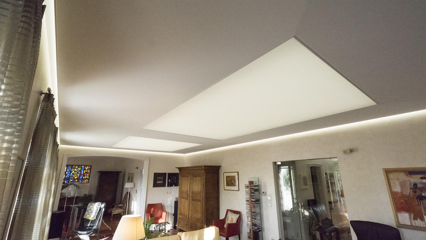 Wohnzimmer nachher Beleuchtungskonzept Schattenspiel