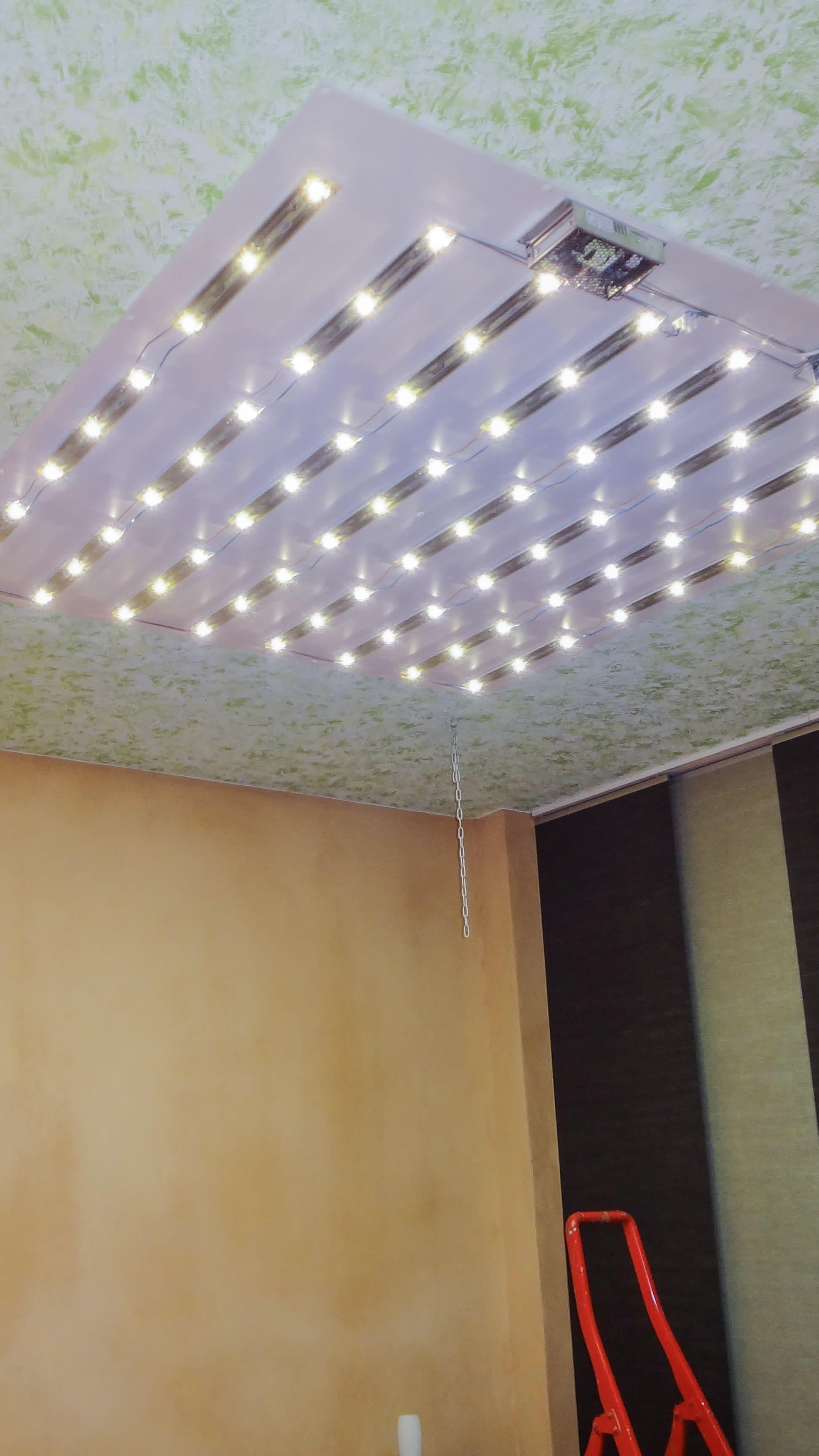 Privates Schlafzimmer Deckensegel Print offener Lichtkasten