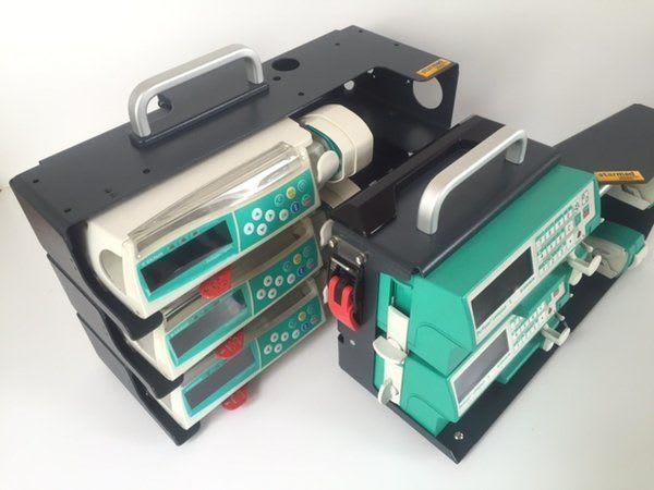 Starmed Mobile Gerätehalterungen für B Braun Spritzenpumpen Compact S und Space