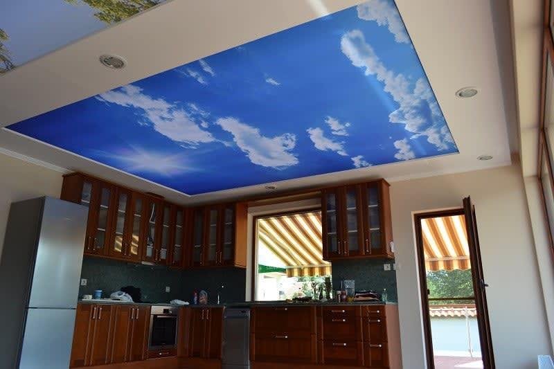 Lehner Spanndecken bedruckte Spanndecke Himmel Decke