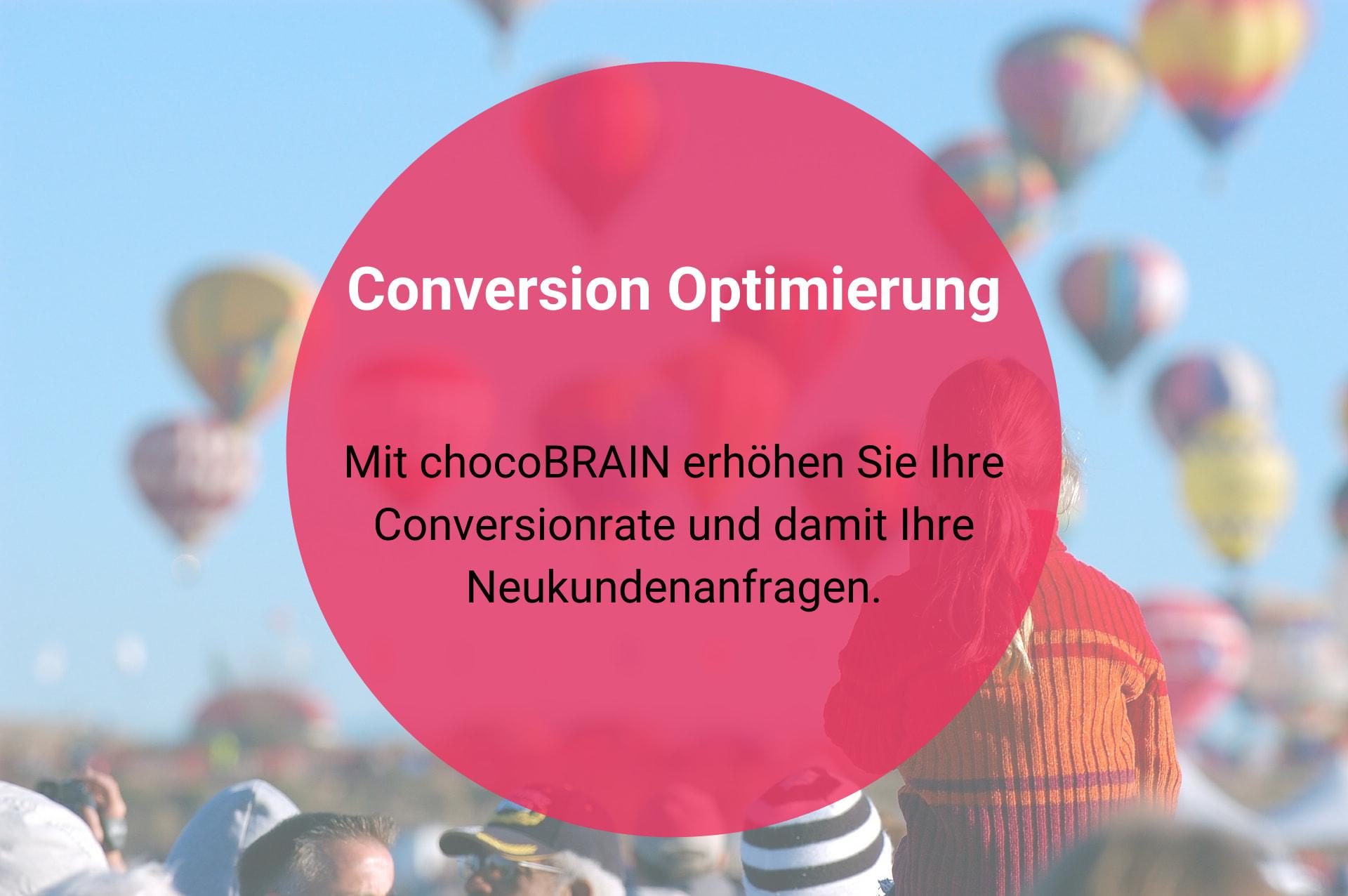 Conversion Optimierung mit chocoBRAIN-Marketing