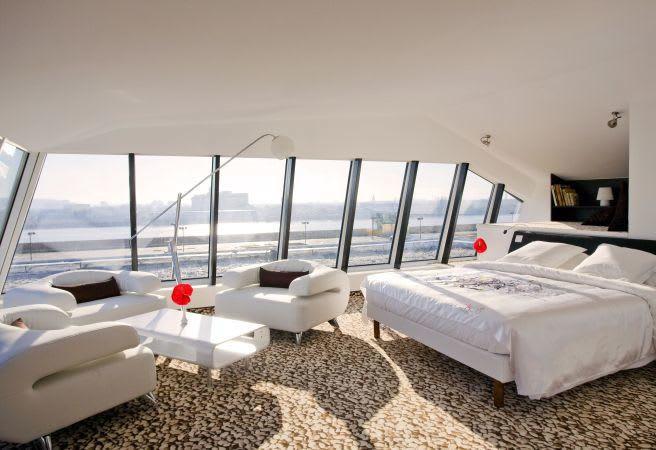 Spanndecke Schlafzimmer, weiß in matt