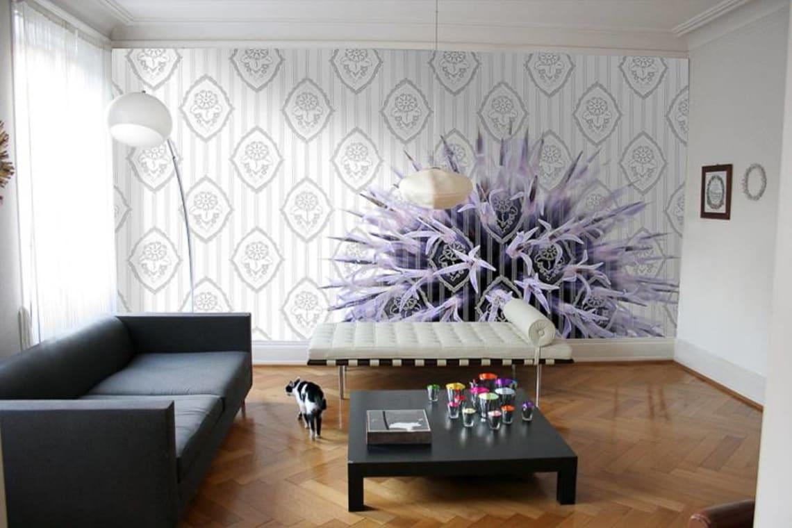Bedruckte Textilwand