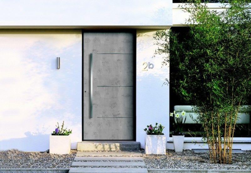 Aluminium Holz Haustür Hausnummer 2b