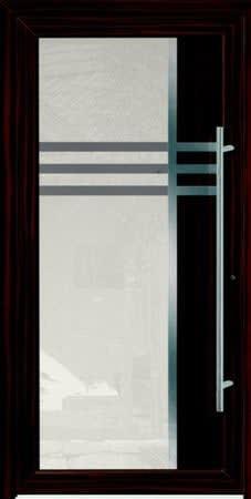 2 Haustür mit großem Rechteck und schwarzen Rahmen und großer Türgriff
