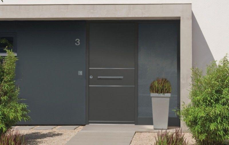 Aluminium Holz Haustür Hausnummer 3