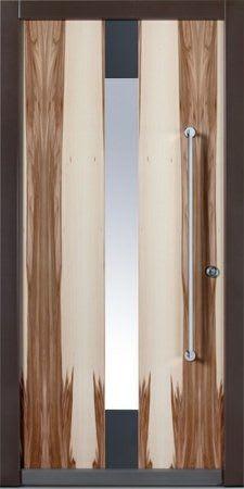 2 Haustür mit Holz Optik und dunkelgrau