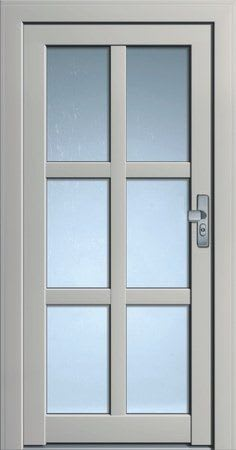 10 Haustür dunkles weiß mit Glasrechtecken