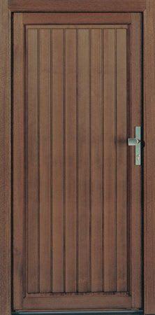 19 Holzhaustür komplett braun