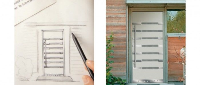 Ihre Wunschhaustüre Planung Zeichnung